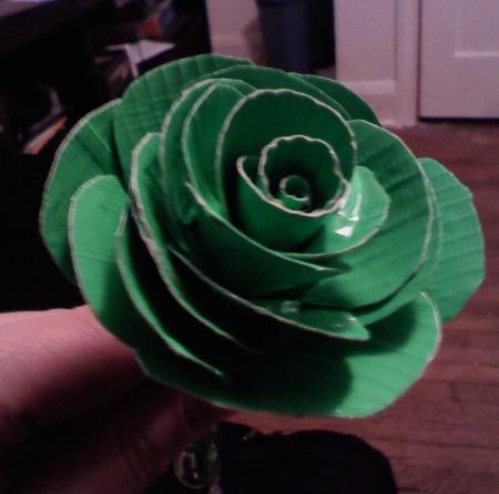 The first rose. Not a fan of making these.